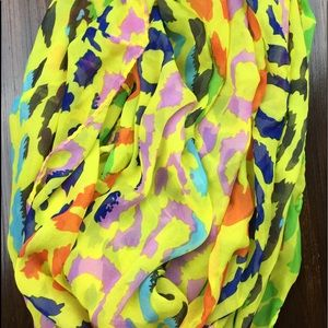 Leopard print multi color infinity scarf NWT